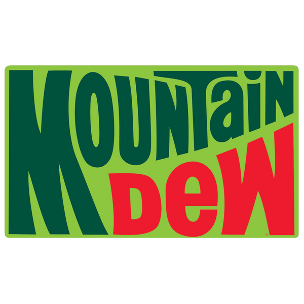 Mountain Dew 1970s Logo Tin Sign
