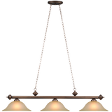 Glass 3 Light Fixture - Oil Rubbed Bronze