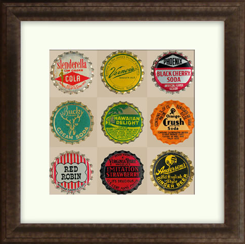 Pop Bottletops II Framed Artwork
