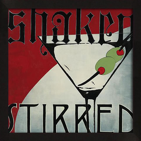 Shaken Stirred Framed Artwork