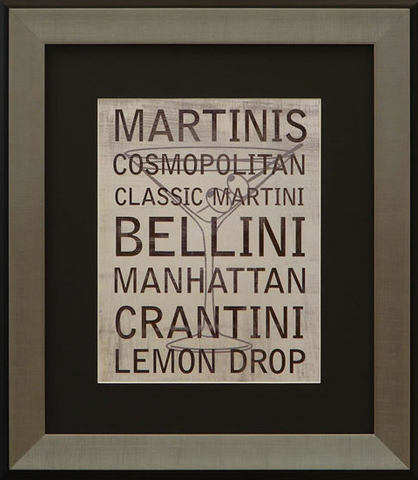 Martini Variety IV Framed Artwork