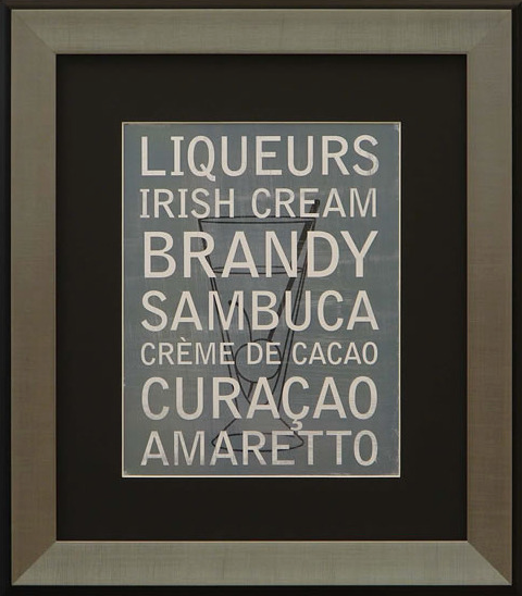 Liqueur Variety III Framed Artwork