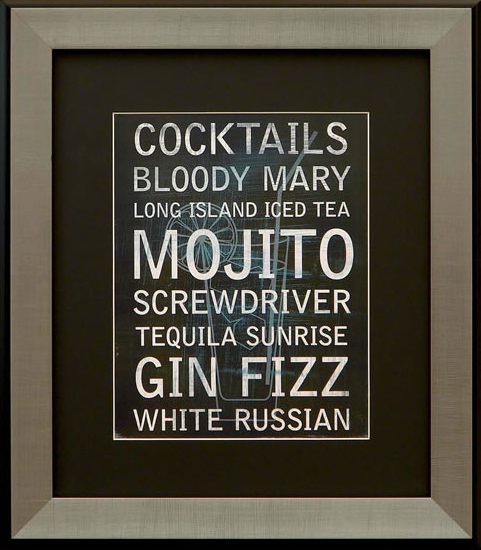 Cocktail Variety II Framed Artwork