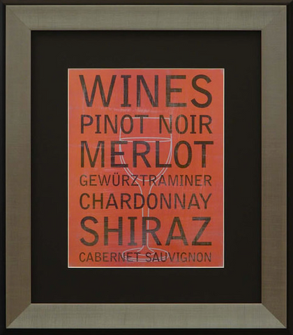 Wine Variety Framed Artwork