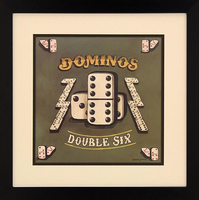 Dominoes Framed Artwork