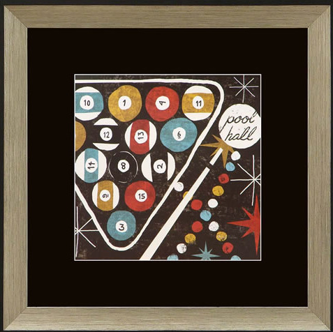 Pool Hall Framed Artwork