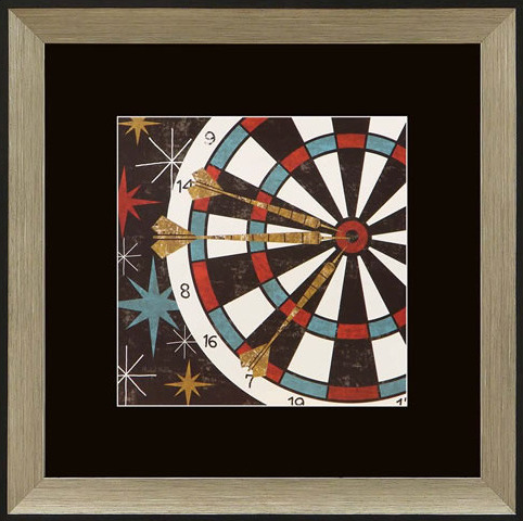 Vegas Darts Framed Artwork