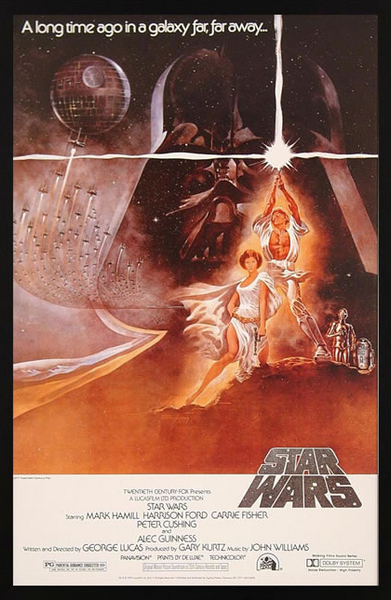 Star Wars IV: New Hope Framed Poster