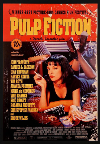 Pulp Fiction Movie Score Framed Poster