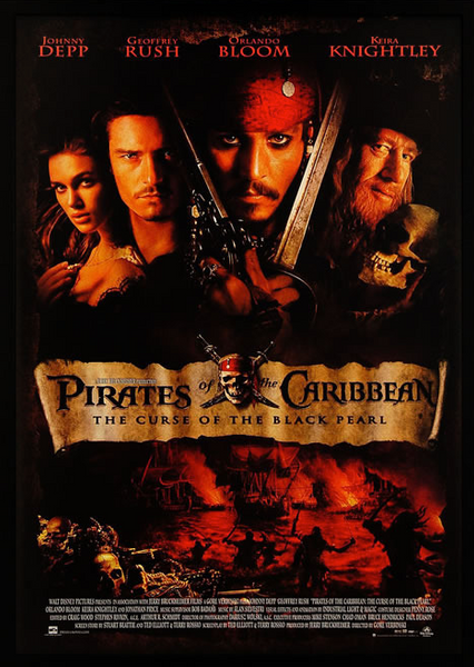 Pirates of the Caribbean Framed Poster