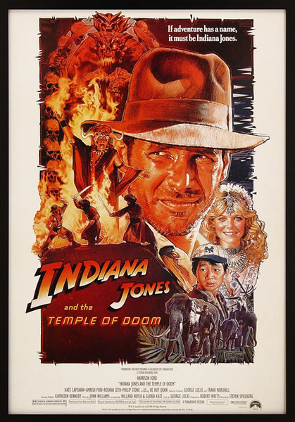 Indiana Jones & The Temple of Doom Framed Poster