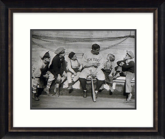 Babe Ruth Tells His Story Framed Picture