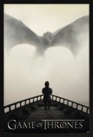 Game of Thrones - Lion & Dragon Framed Poster