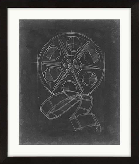 Camera Film Blueprint Framed Artwork