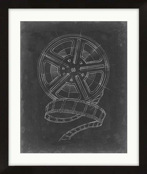 Camera Film Roll Blueprint Framed Artwork