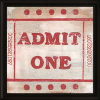 "Admit One ""Ticket"" Framed Artwork"