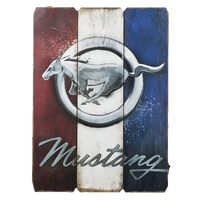 Ford Mustang Wood Wall Art