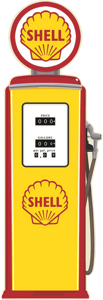 Shell Gasoline Pump Sign
