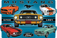 Mustang Collage Die Cut Sign