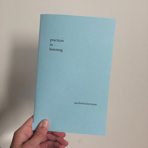 Zine, Practices in Listening