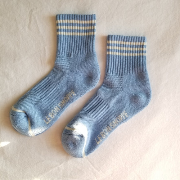 Girlfriend Socks, Parisian Blue