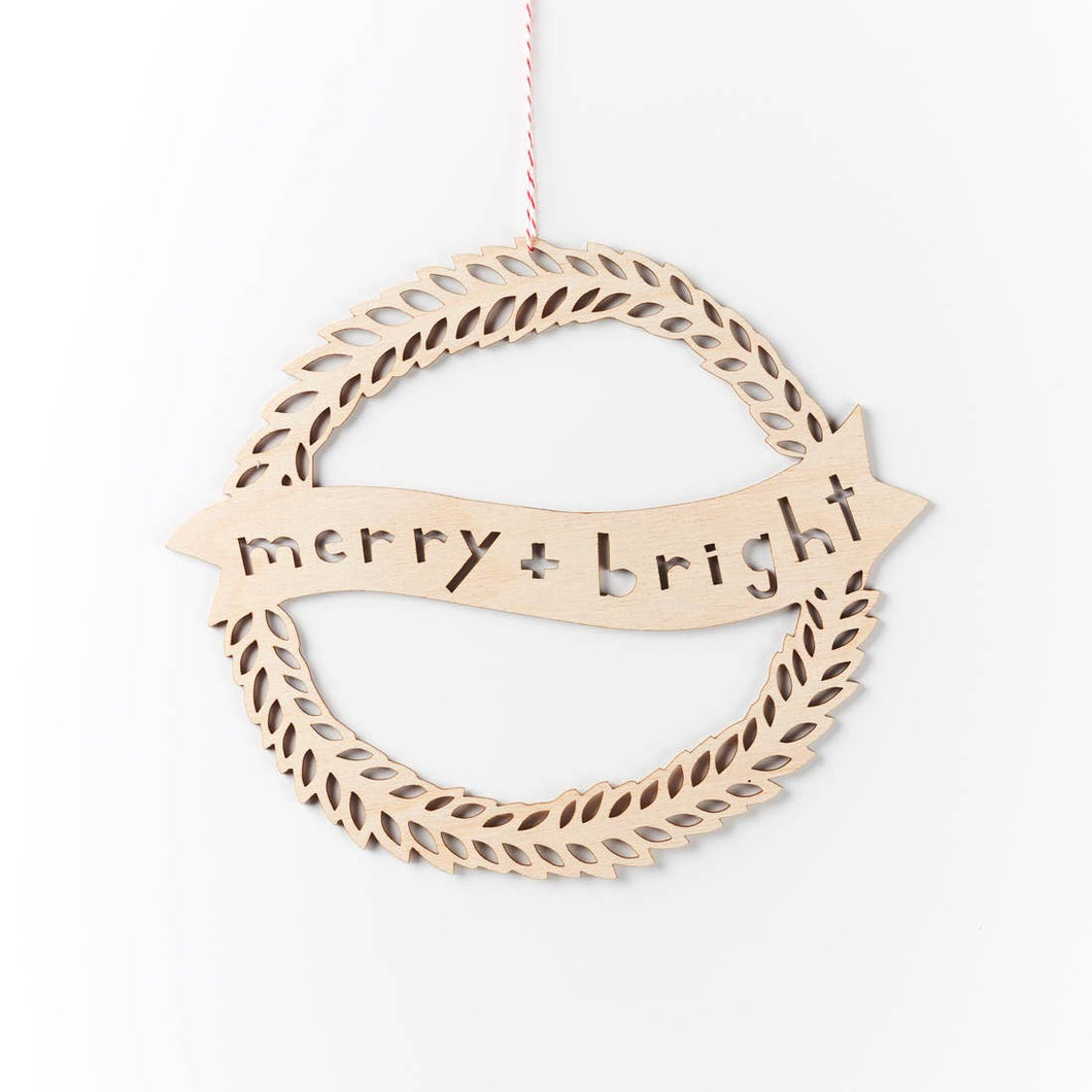 Light + Paper - Merry + Bright Wreath