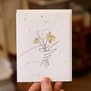 Card, Wildflower Bouquet