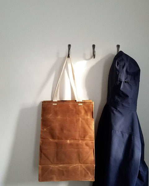 Waxed Canvas Grocery Tote