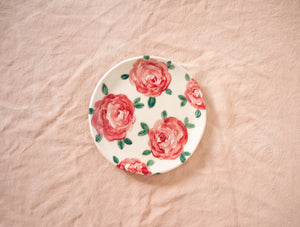 Red Rose Catchall Dish