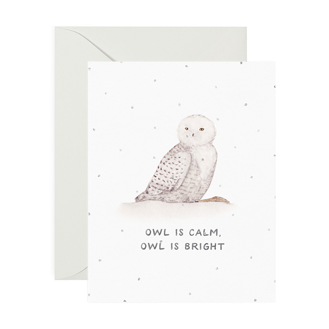 Card, Owl Is Calm Holiday