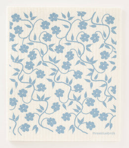 Swedish Dishcloths, Blue Vines