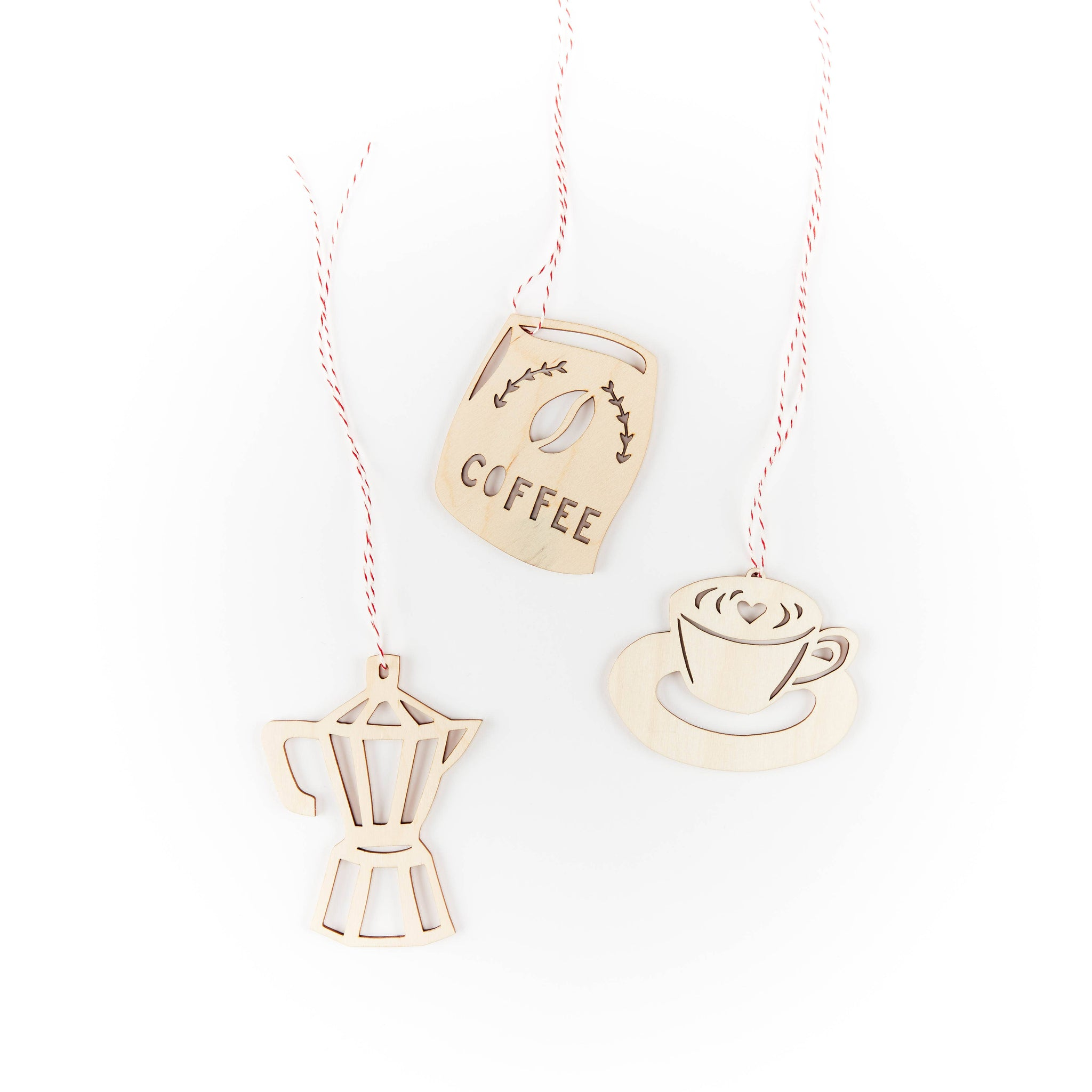 Light + Paper - Coffee Lovers Ornaments
