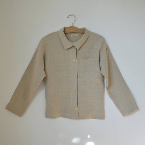 Hemp Field Shirt, Natural