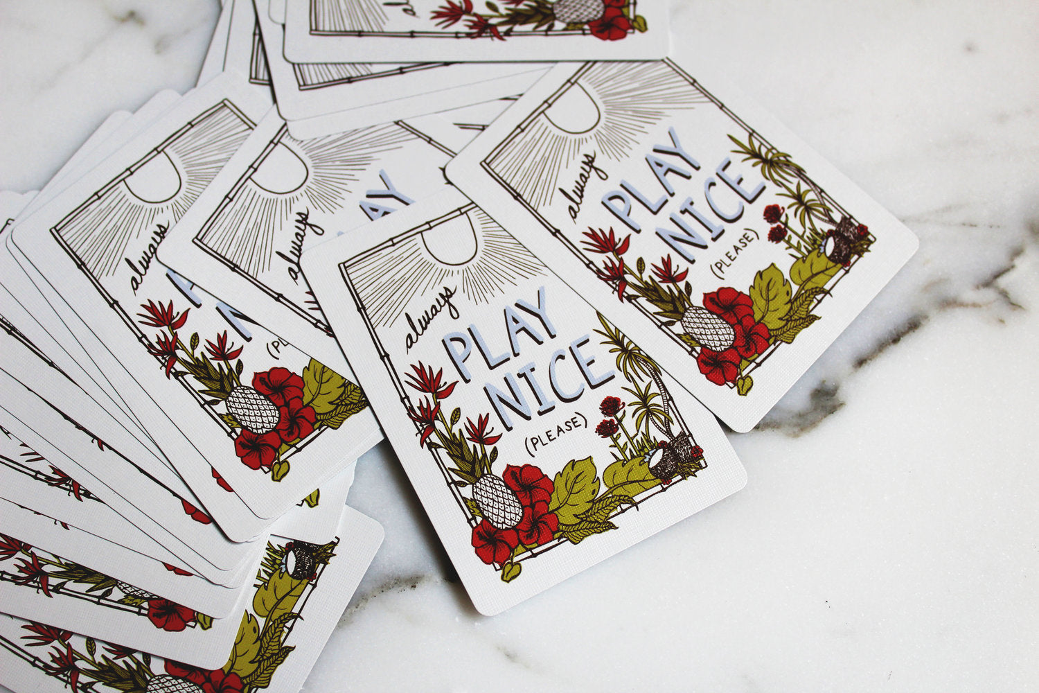 Please Play Nice Playing Card