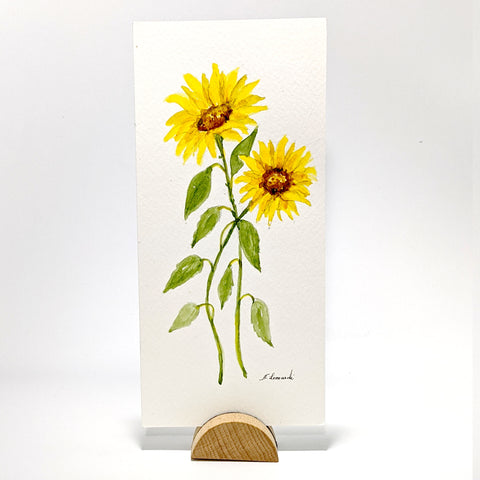 Sunflowers, Original Watercolor