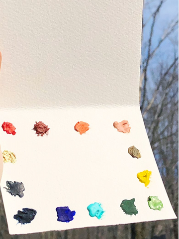 Watercolor Dot Cards