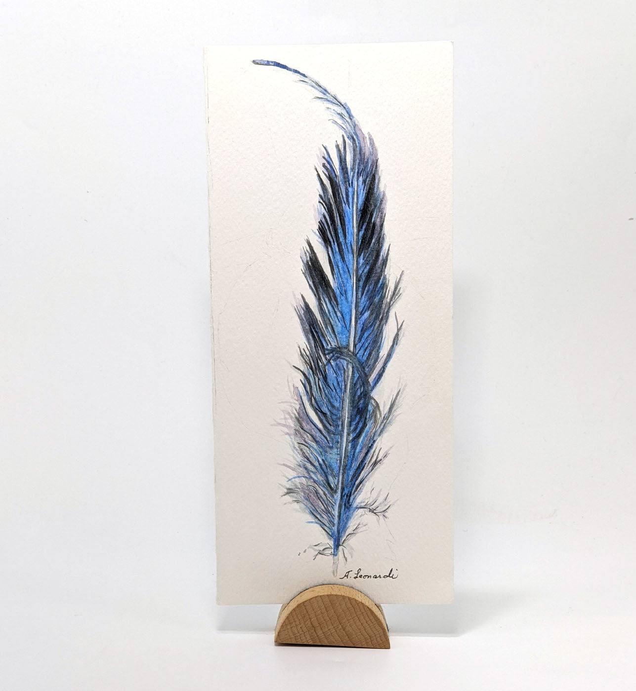 Feather, Original Watercolor