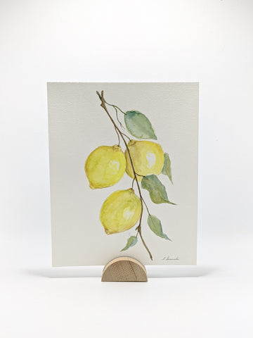 Lemons, Original Watercolor