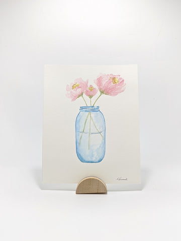 Peonies, Original Watercolor