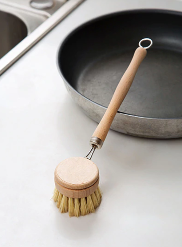Zero Waste Dish Brush Long Handle, Replaceable Head