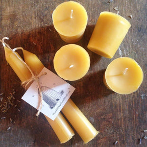 Hand Poured Beeswax Votives
