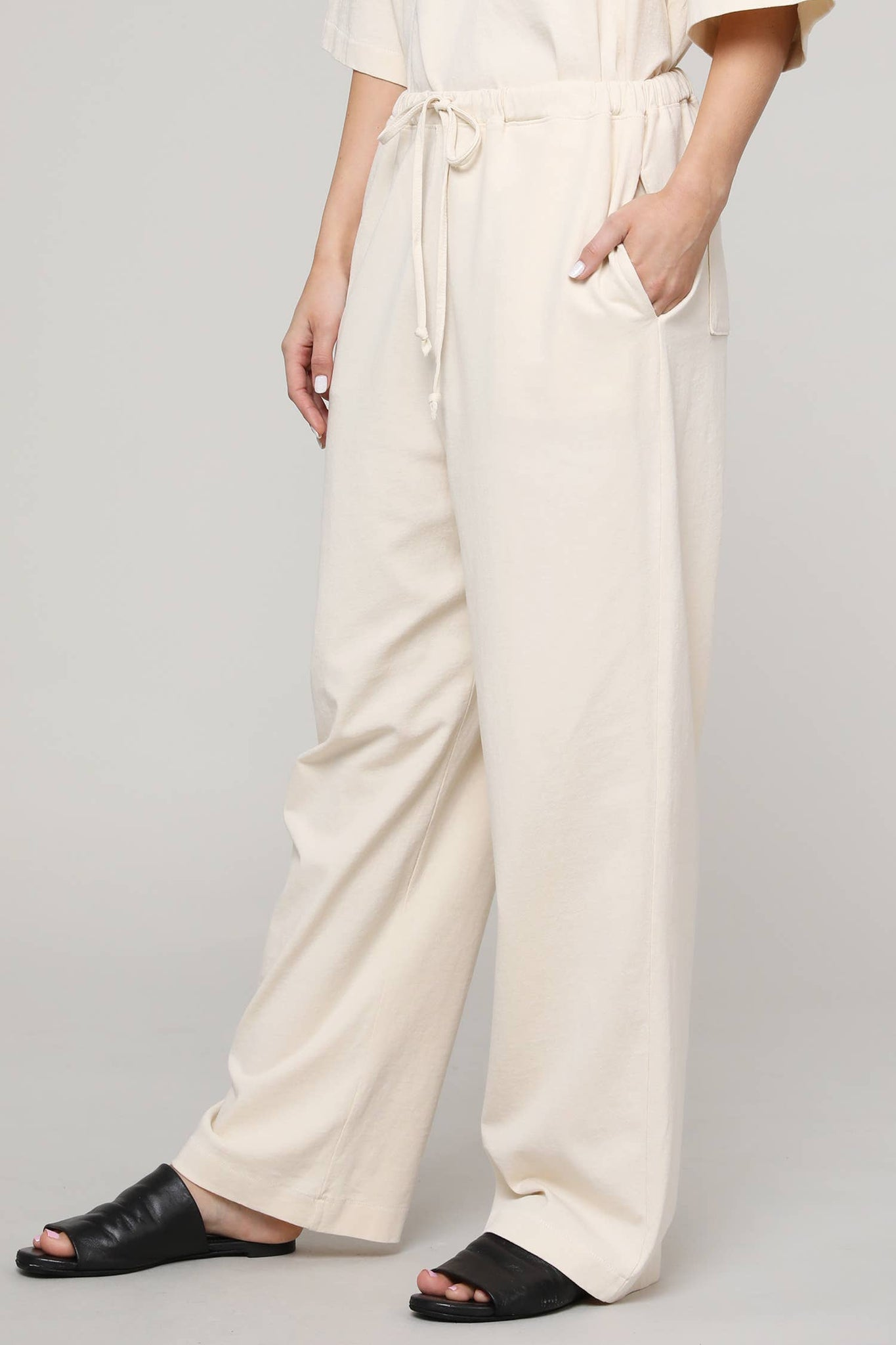 Drawstring Cotton Pant