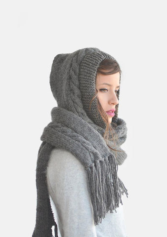 Chunky Hooded Scarf