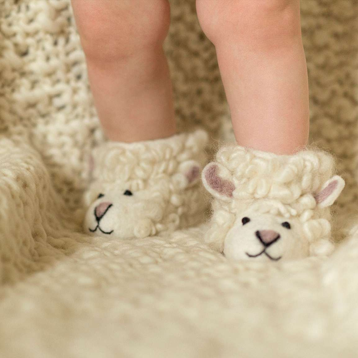 Kid's Slippers, Sheep
