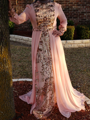 Royal Evening Dress - Peach