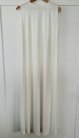 Basic Sleeveless Stretch Maxi - White