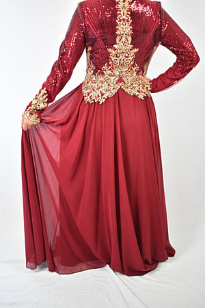 Elegant Evening Dress - Red