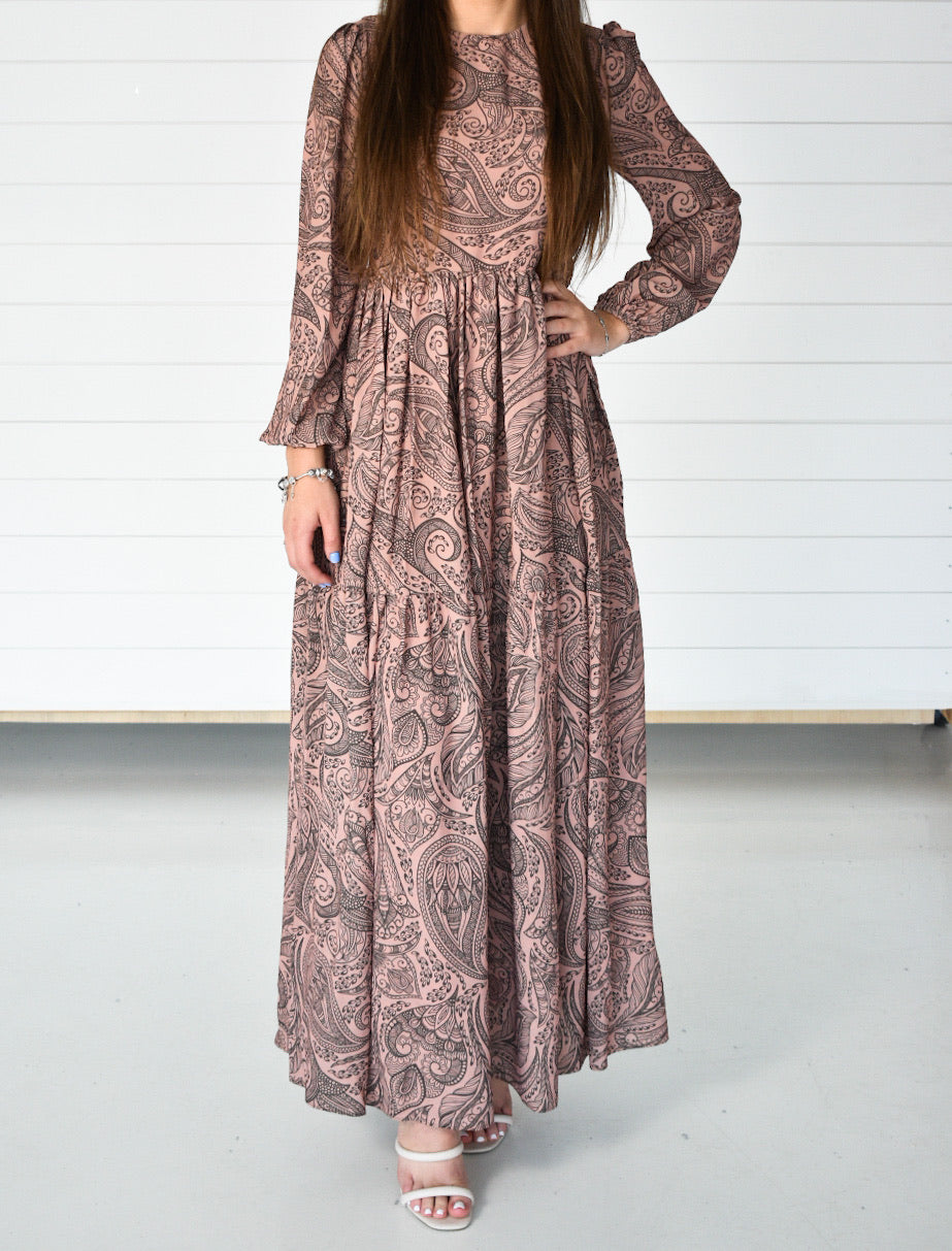 Printed Maxi Dress - Rose