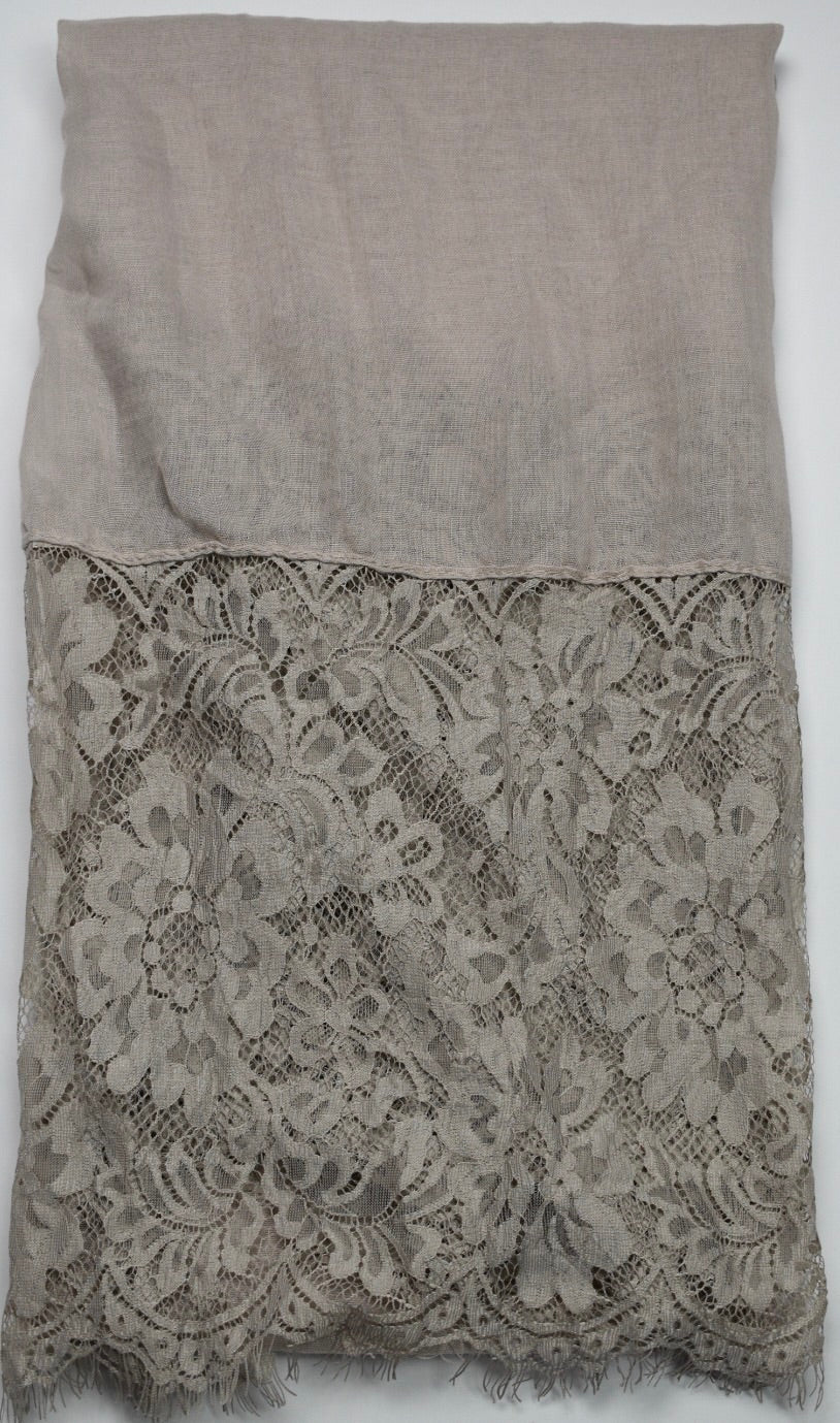 Taupe Lace Hijab