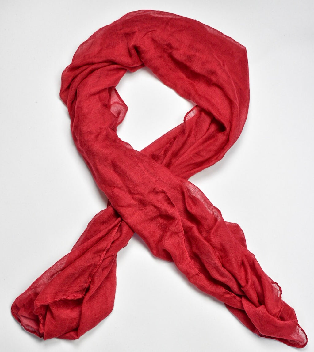 Deep Red Viscose Hijab